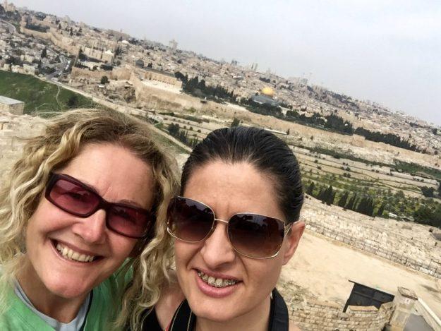 Selfie taken at the Mount of Olives Jerusalem