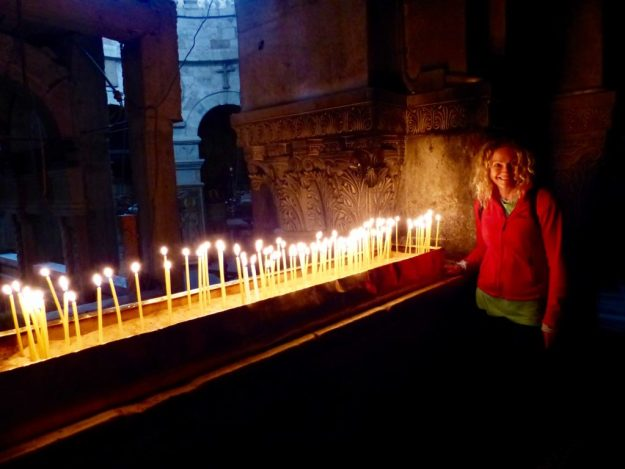 Inside the Church if the Holy Sepulchre