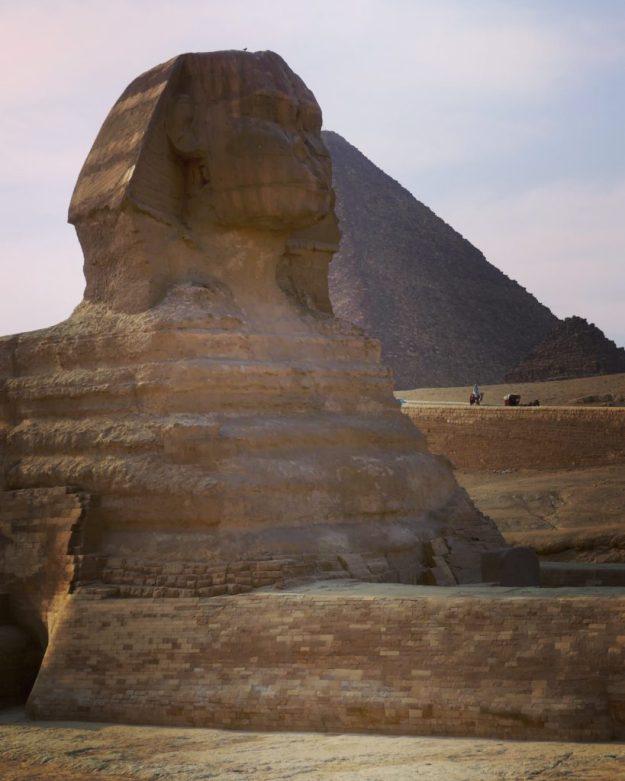 The impressive Sphinx and Giza Pyramid