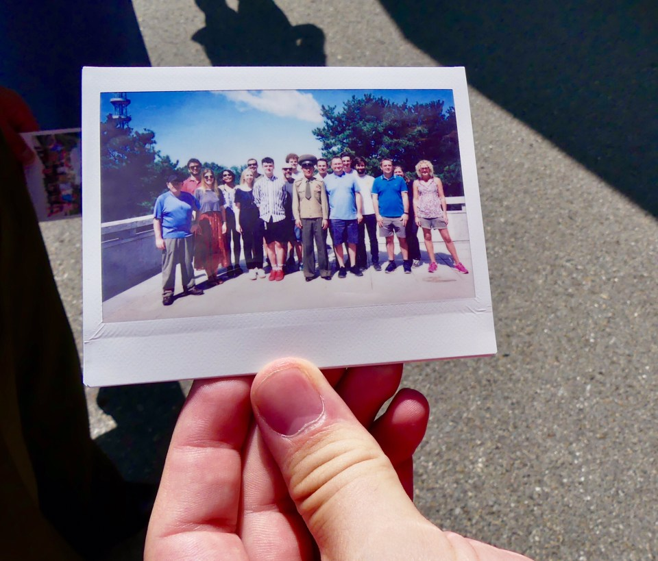 Caught on a Polaroid at the DMZ North Korea
