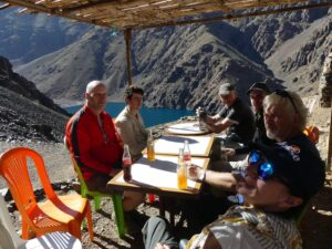 A random refreshment stop on the track to Lake Ifni