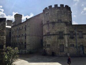 The ominous facade of Oxford Castle