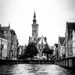 Bruges architecture and canal