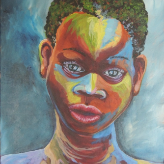 Painted Boy 2 at J'ouvert