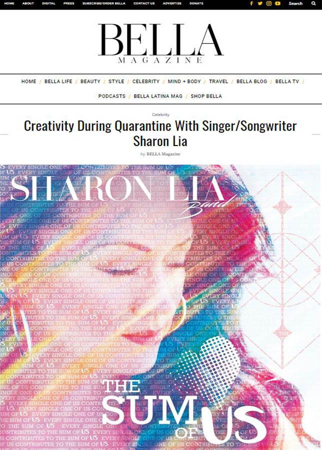Sharon Lia interviewed by Bella Magazine