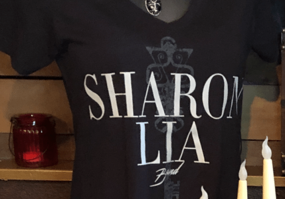 """Sharon Lia Band Women's """"Anomie"""" Tee and """"Tree of Life"""" Necklace"""