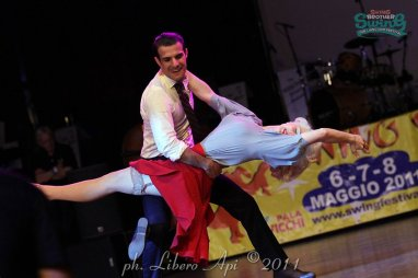 Performance with Juan Villafane at Swing Brother Swing Festival 2011, Bologna Italy // Photo by Libero Api