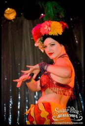 Performing for Sugar Blue Burlesque, Perth Australia // Photo by Gregory Bruyer