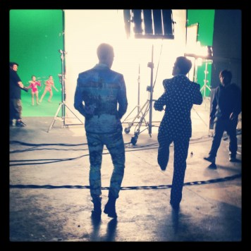 Juan & Dax on set at the Ula Ula music video shoot