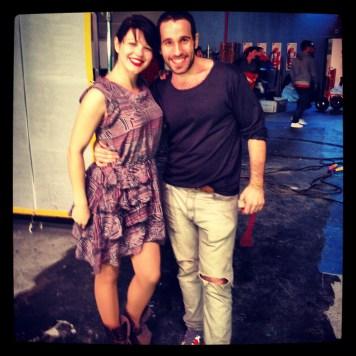 Me and the director, Hernan Corera, on set at the Ula Ula music video shoot
