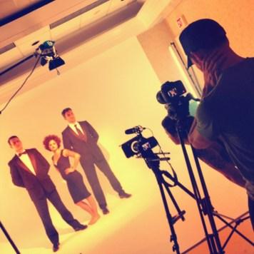 On set at the Backbone music video shoot