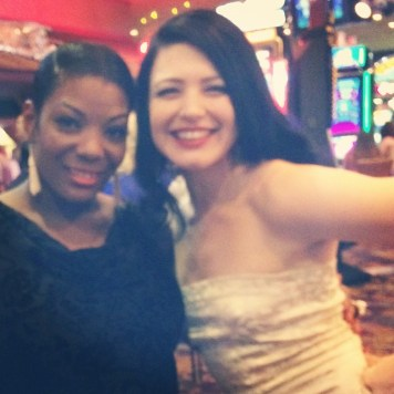 Bonnie Fox & Perle Noire in Las Vegas June 2014 for Burlesque Hall of Fame (BHoF)