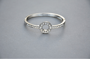 a siver engagement ring