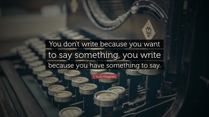 Picture Quote - Fitzgerald Writing