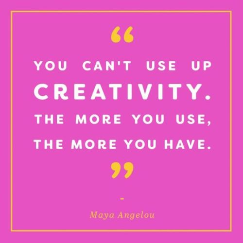 Quote: Maya Angelou on Using Up Creativity | Sharon Abimbola Salu