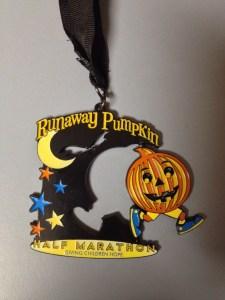 Runaway Pumpkin - Medal open