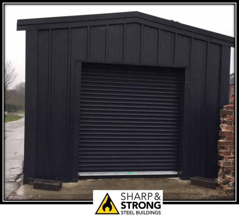 Steel garages and workshops- Sharp and Strong Ltd