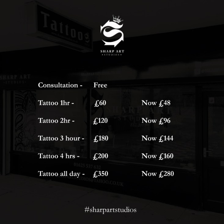 Price list for our flash Summer Sale