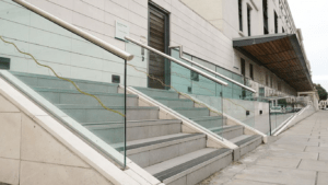 stair glass balustrade