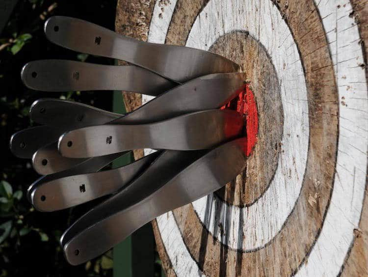 accuracy and consistency with knife throwing