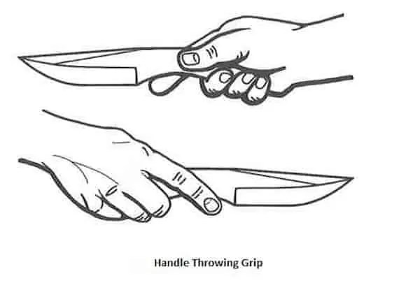 knife throwing grip for beginners