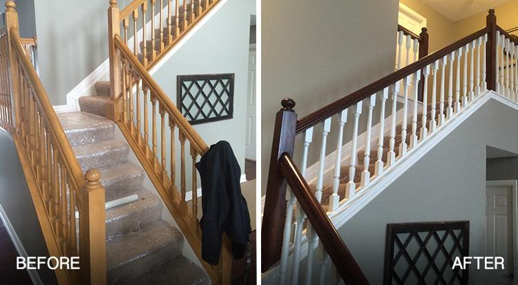 Should You Paint Or Stain Stairs And Railings In Your Home | Cost To Refinish Wood Railing | Stair Treads | Interior | Gel Stain | Paint | Balusters