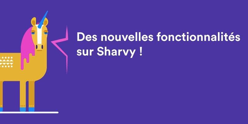 Covoiturage, jours fériés, carte dynamique… Des nouveautés sur Sharvy !