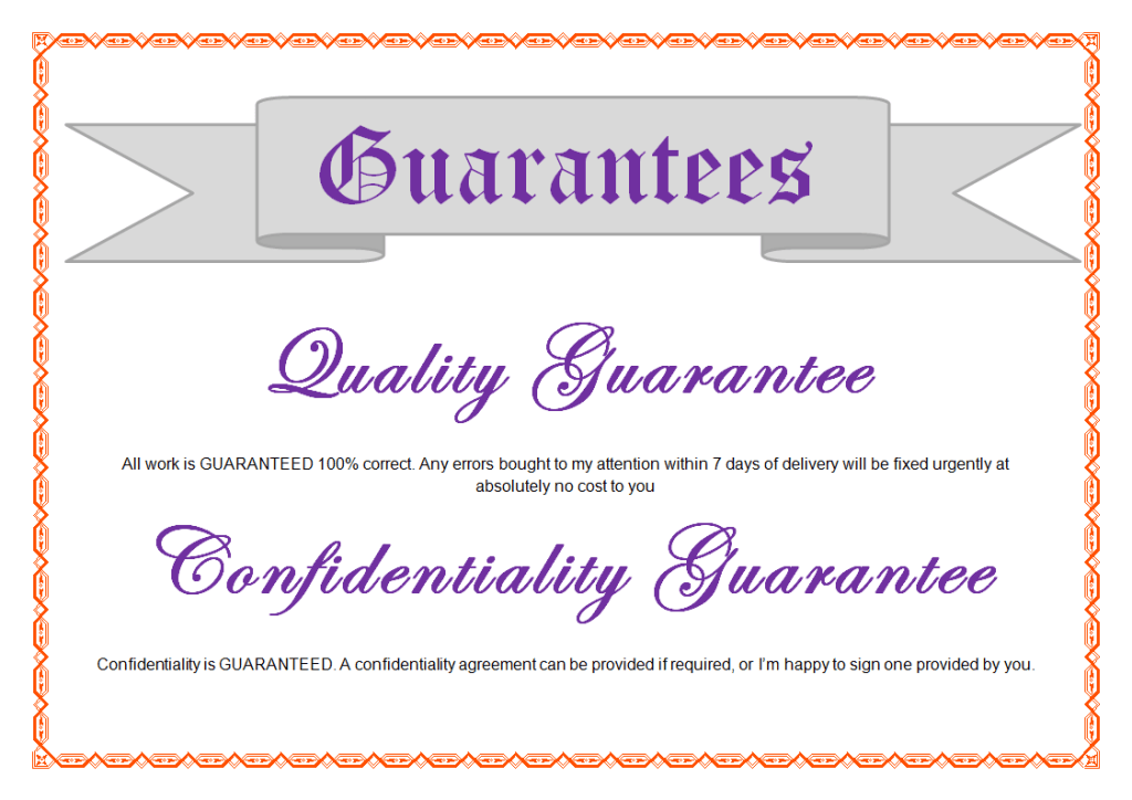 Customer Relations Guarantee - Sharyn Munro Virtual Assistance