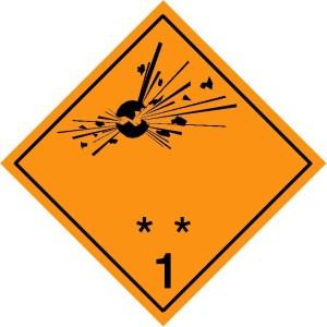 1.1 -1.2 -1.3 Explosives
