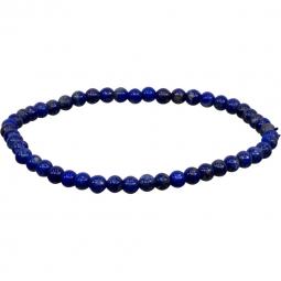 4mm Lapis Lazuli Stretch Bracelet for Throat Chakra   Shasta Rainbow Angels