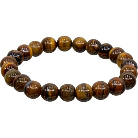 8mm Tiger Eye Stretch Bracelet for Protection | Shasta Rainbow Angels