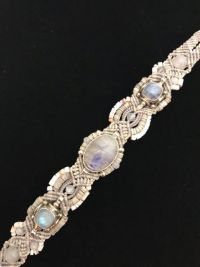 Isha Moonstone & Sterling Silver Bracelet | Shasta Rainbow Angels