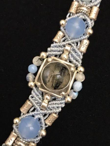 Isha Rutilated Quartz & Sterling Silver Bracelet | Shasta Rainbow Angels
