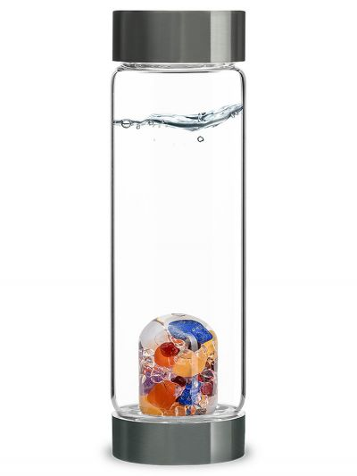 Jubilee Ayurveda Vita Juwel Crystal Water Bottle| Shasta Rainbow Angels
