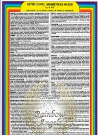 Attitudinal Awareness Guide (AA) 8x13 Laminated | Shasta Rainbow Angels