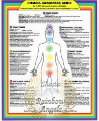 Chakra Awareness Guide (CC) - 8X10 Laminated Card | Shasta Rainbow Angels