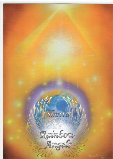 Earth Abundance (EA) Laminated 5x7 Art Print   Shasta Rainbow Angels