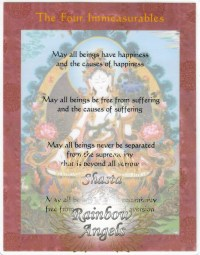 The Four Immeasurables (FI) - 7X9 Laminated Altar Card | Shasta Rainbow Angels