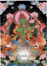 Green Tara (GT2) - 5X7 Laminated Altar Card   Shasta Rainbow Angels