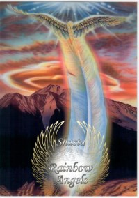 Mount Shasta Ascension (MA) Laminated 5x7 Art Print | Shasta Rainbow Angels