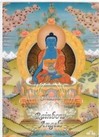 Medicine Buddha (MD1) - 5X7 Laminated Altar Card   Shasta Rainbow Angels