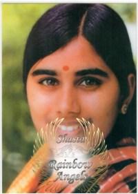 Mother Meera (ME) Laminated 5x7 Art Print | Shasta Rainbow Angels