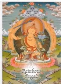 Manjushri (MJ1) - 5X7 Laminated Altar Card   Shasta Rainbow Angels