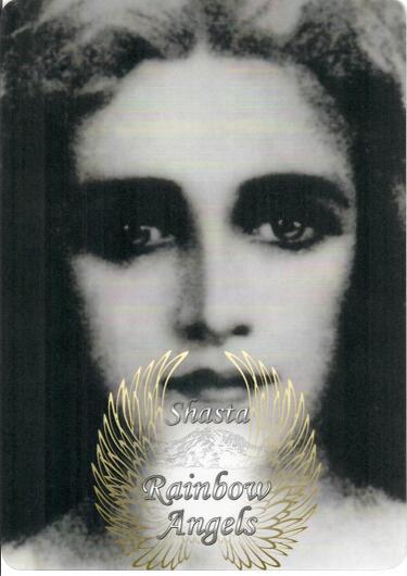 Mother Mary (MM3) Laminated 5x7 Art Print   Shasta Rainbow Angels