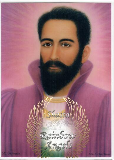 St. Germain (SG2) - 5x7 Laminated Altar Card   Shasta Rainbow Angels
