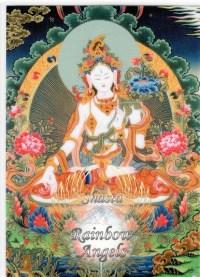 White Tara (WT) - 5X7 Laminated Altar Card   Shasta Rainbow Angels