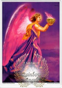 Archangel Zadkiel (ZK) - 5X7 Laminated Altar Card | Shasta Rainbow Angels