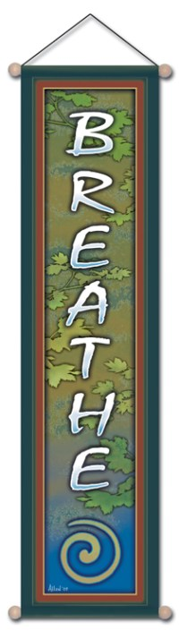 Breath Hanging Wall Banner | Shasta Rainbow Angels