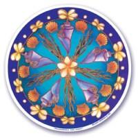Plumeria Delight Translucent Window Sticker | Shasta Rainbow Angels