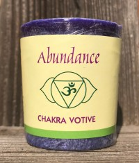 Third Eye Chakra Abundance Anja 100% Essential Oil Votive Candle | Shasta Rainbow Angels